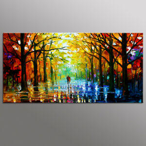 Modern Canvas Prints Art Lover in Road Oil Painting Poster Wall Decor-No Frame