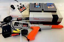 Nintendo Lot Console NES-001 NES-026 Advantage 2-Controllers Duck Hunt Xevious