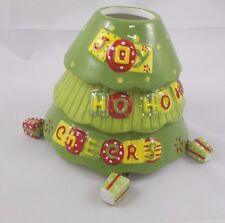 Home Interiors Candle Topper Christmas Green Hanging Presents