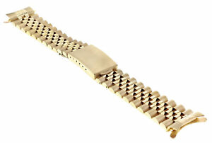 MENS 19MM 14K YELLOW GOLD JUBILEE WATCH BAND FOR ROLEX DATE 1500, 1501, 1503