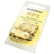NATIONAL NP2 Brass Fingerpicks for Banjo Dobro etc, Package of 4