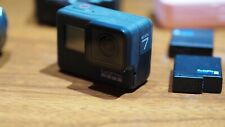 GoPro HERO7 Action Camera - Black, used, accessories, 2 batteries