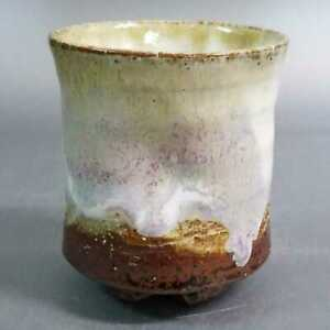 牧88)Japanese Pottery Hagi ware Yunomi/Tea Cup by Seigan Yamane