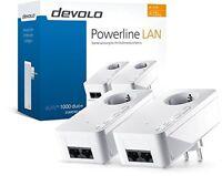 DEVOLO dLAN 1000 duo+ Starter Kit Powerline Adapter Steckdose 1000 Mbit/s