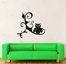 Wall Stickers Vinyl Decal Owl on Tree Branch Bird Nice Room Decor (ig637)