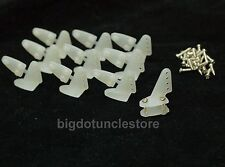 143b: 10x Control Horns (17 x 20mm) with Screws ,Nylon , Parts for RC Airplane
