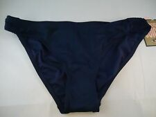 NWT Juicy Couture Starlet Smoked Bikini Bottoms Size XL Color Regal (NAVY)