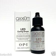 OPI Axxium LED CURING DROPS for Axxium Soak Off Gels .3oz/9ml ~2 Bottles~