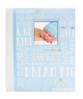 Blue Words Baby Boy Memory Keepsake Book Record, Babies Gift For Little Man