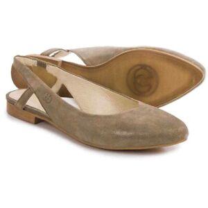 """GERRY WEBER """"Edith 04"""" Damen Slingback Ballerina Gr. 36 Fersenriemen Khaki - NEU"""