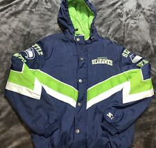 Vintage NFL Seattle Seahawks Starter Jacket Parka  Authentic Men's Medium.