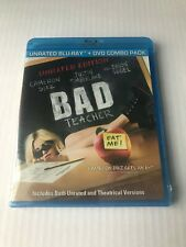 Bad Teacher Blu-Ray DVD Combo (2011) 2-Disc Set New Sealed Cameron Diaz Unrated