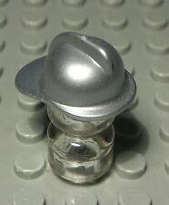Lego Figur Zubehör Helm Feuerwehr Silber                                 (938 #)