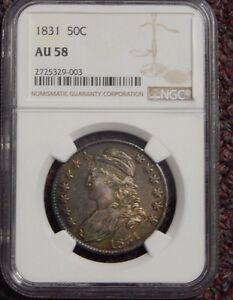 1831 Bust Half Dollar NGC AU58 Nice Coin 2725329-003
