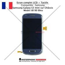 Ecran Tactile et Lcd Complet pour Samsung Galaxy S3 mini sur châssis i8190 Bleu