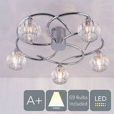 AUROLITE BOLLA LED 5-Lights Ceiling Light, Polished Chrome Natural White (4000K)