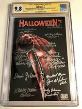 CGC SS 9.8 Halloween #1 Variant cast signed Castle, Soles, Loomis, Yablans +11