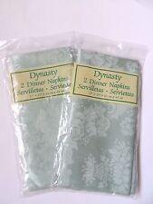"""Dynasty Set of 4 Dinner Napkins 17"""" x 17"""" - Green Floral"""