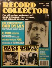 RECORD COLLECTOR AUG 1994 NO.180 BOB DYLAN PRINCE PETE BURNS VAN MORRISON EX