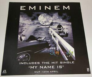 EMINEM Hi ! My Name is Slim Shady New Single & LP Promo Poster Original Display