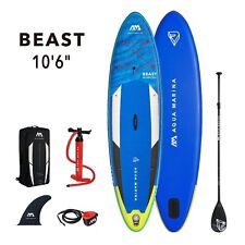 "2021 Aqua Marina Beast 10'6"" Stand Up Paddle Board Inflatable SUP w/ Paddle"