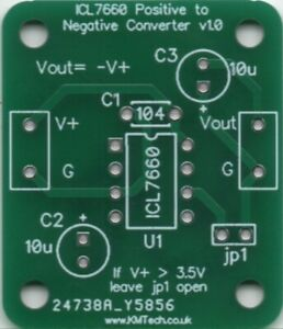 KMTech ICL7660 based Negative Voltage Converter PCB DIY