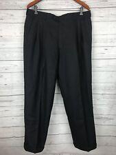 YVES SAINT LAURENT Men's Dress Pleated Black Striped Pants Slacks 36 X 28