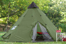 Family Teepee Tent 18'x18' Sleeps 10-12 People, Green Guide Gear