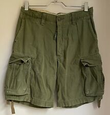 KHAKI CARGO SHORTS W36 MENS ABERCROMBIE & FITCH SPORT GOLF FOOTBALL GYM CASUAL