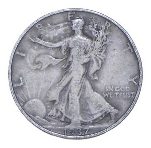 1937-D Walking Liberty 90% Silver US Half Dollar *631