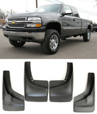 Front Rear Splash Mud Splash Guards Flaps For 99-07 Silverado w/ Fender Flares