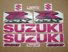 GSX-R 600 pink decals stickers graphics kit set rose autocollants 2002 2004 2006
