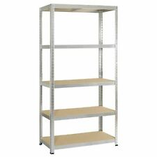5 Tier Metal Heavy Duty Boltless Rack Racking Warehouse Garage Shelving Unit