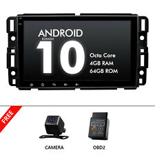 """CAM+OBD+Car Stereo GPS Navi Radio for Chevy Buick 8"""" 4+64G 8Core Android Auto 10"""