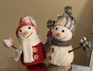 Bath & Body Works~~Set of 2 Snowman Magnet Candle Toppers~~NWT