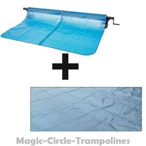 Intex Pool Schwimbeck Aufroller + solarplane 732x366 Schwarz/Blau rechteck pool