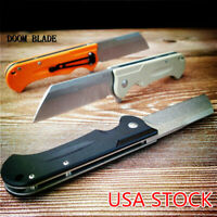 D2 Blade Ball Bearing Knive G10 Handle Folding Knife Plain Edge Survival Hunting