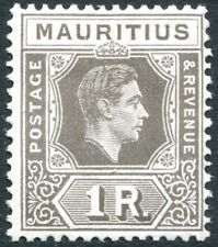 More details for mauritius-1949 1r drab sg 260c mounted mint v27113