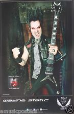 "STATIC X ""WAYNE STATIC HOLDING HIS GUITAR"" U.S. PROMO POSTER - Alt Metal Music"