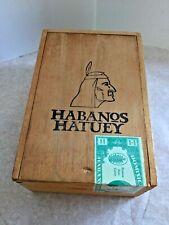 Vinta Habanos Hatuey Vintage Wood Cigar Box with Indian Imprint - Free Shipping!