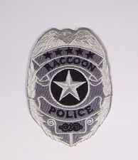 """RESIDENT EVIL RACCOON POLICE 5 STAR BADGE EMBROIDERED 3.5"""" TALL PREMIER PATCH"""