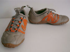 Merrell beige slip on leather trainers elastic laces size 4 / 37