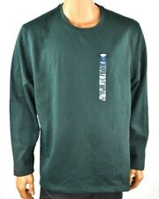Club Room Mens Shirt New XXL Pullover Green Crew Neck Long Sleeves