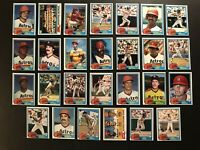 1981 Topps HOUSTON ASTROS Complete TEAM Set NOLAN RYAN Andujar J R RICHARD