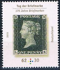 3173 ** BRD 2015, Tag der Briefmarke (One Penny Black)