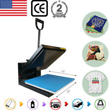 15x15 Clamshell Heat Press Machine Sublimation Transfer For T Shirt Diy Gifts