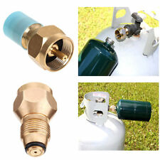 BBQ Grill Saver LPG Propane Tank Gas 1Lb Filling Adapter Coupler Brass Tool