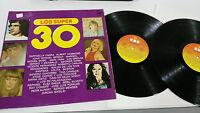 """LOS SUPER 30 RECOPILATORIO 2 X LP VINILO VINYL 12"""" 1977 MIGUEL BOSE LAS GRECAS"""