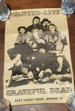 Vintage Concert Poster Grateful Dead Wanted Live East Coast Tour 83