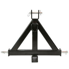 """3 Point 2"""" Heavy Duty Receiver Trailer Hitch Category 1 Tractor Tow Drawbar Pull"""